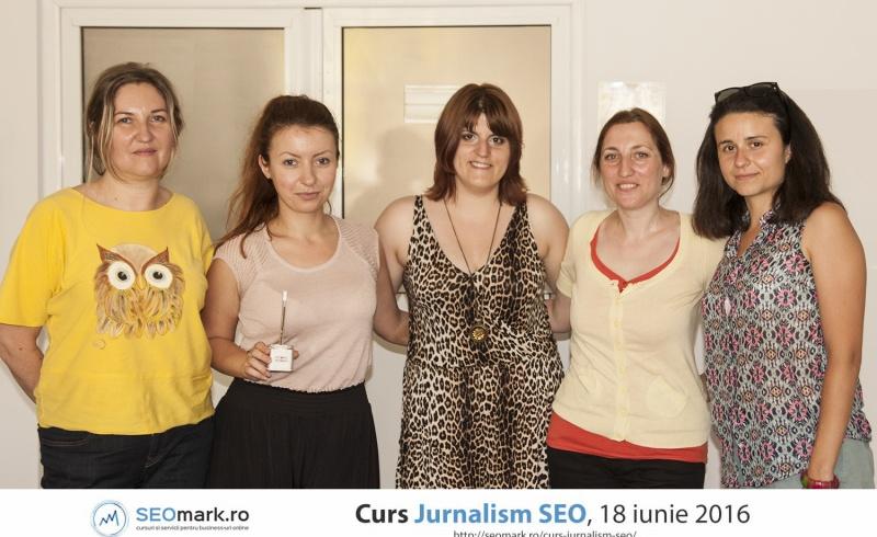 Cursanti de la cursul de jurnalism seo