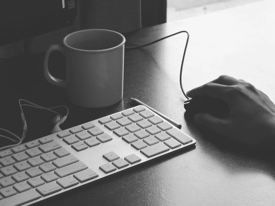 imagine blogger cafea tastatura mouse