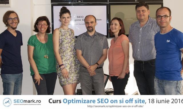 Radu Ciofu si cursantii de optimizare seo on si off site