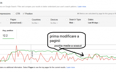 Prima runda de optimizare seo