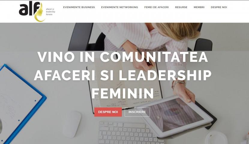 exemplu constructie site-uri afaceri si leadership feminin