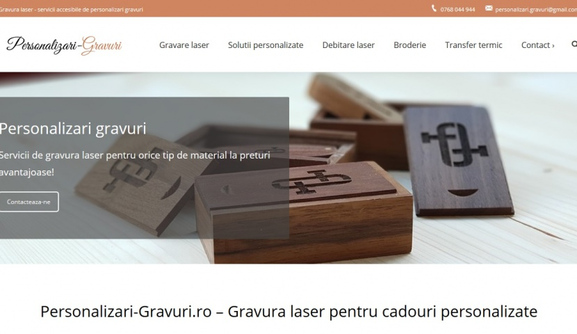 personalizari-gravuri site de prezentare