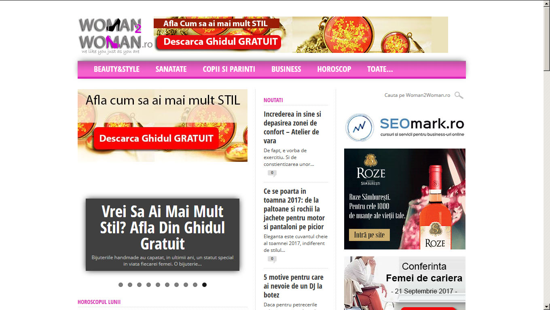 exemplu constructie site-uri web woman2woman